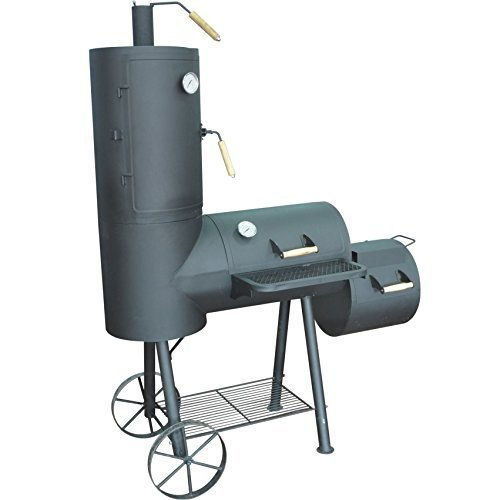 Syntrox Germany XXL Smoker Barbecue BBQ Grill Räucherofen Holzkohlegrill Grillwagen