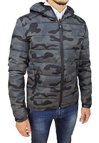 timeless design 997f4 20ccc Giubbotto piumino uomo militare mimetico slim fit camouflage ...