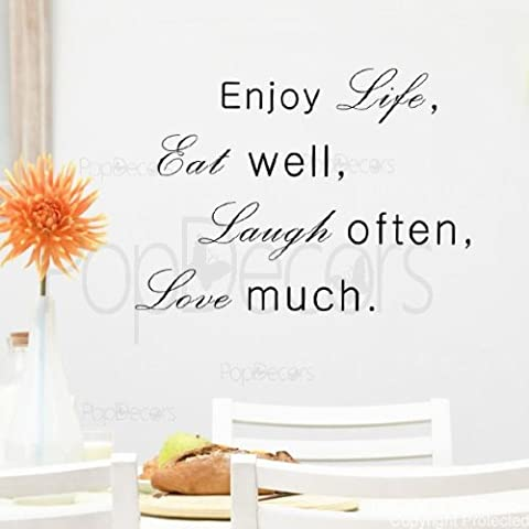 popdecors – Enjoy Life Eat Well Laugh Often Love much- – Phrase Citation mots