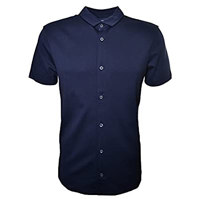 Armani Jeans Men's Dark Navy Short Sleeve Shirt