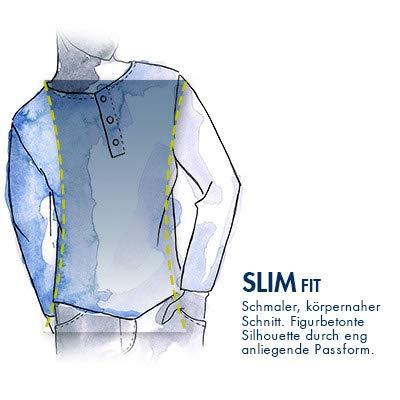 camel active Herren LS Basic Henley Langarmshirt, Blau (Marine 19), Small (Herstellergröße: S)