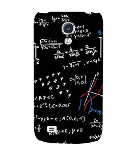 Mathematics Pattern Hard Polycarbonate Designer Back Case Cover for Samsung Galaxy S4 mini I9195I :: Samsung I9190 Galaxy S4 mini :: Samsung I9190 Galaxy S IV mini :: Samsung I9190 Galaxy S4 mini Duos :: Samsung Galaxy S4 mini plus