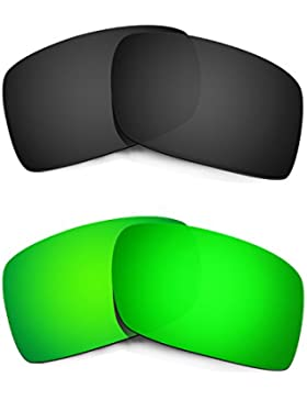 Hkuco Mens Replacement Lenses For Oakley Gascan Black/Emerald Green Sunglasses