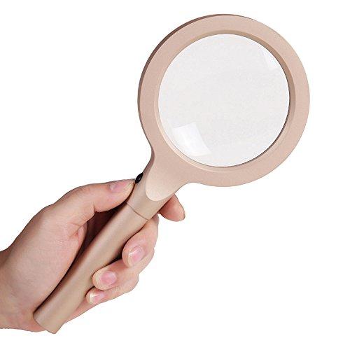 YL HOME-Lupe, Hand-Can Zoom 10/20 Times Für Ältere Menschen Zu Lesen und Reparieren HD Lupe 12 LED-Lampe Kind Spiegel Double Metal Frame Griff A++ - Eschenbach Led-hand-lupe