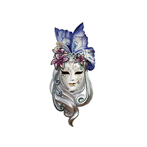 Design Toscano Maske von Venedig, Wandskulptur: (Masken Schmetterlings)