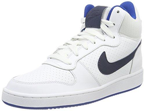 Nike Herren Court Borough Mid Sneaker, Weiß (White/Thunder Blue-Blue Jay), 39 EU (Tops Laufschuhe Nike High)