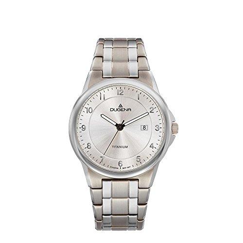 Dugena Mens Analogue Quartz Watch with Titanium Strap 4460869
