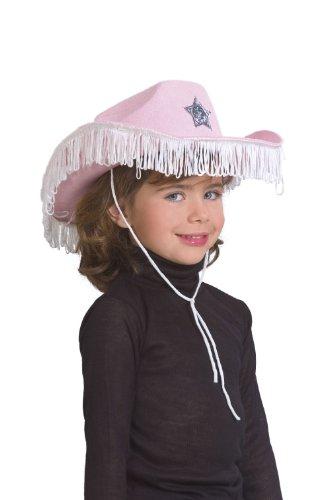 Cesar–Karabinerhaken–001–Kostüm–Hut Cowgirl Fransen–rosa (Kind Hut Cowgirl Rosa)