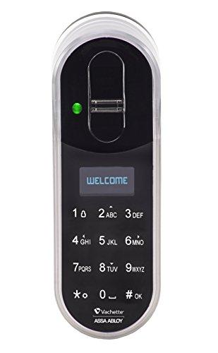Vachette TOUCHPAD ENTR CODE ET BIOMETRIE Touchpad biométrique, Blanc/noir, 140 x 50 x 40 mm