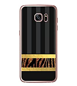 Fiobs Designer Back Case Cover for Samsung Galaxy S7 :: Samsung Galaxy S7 Duos :: Samsung Galaxy S7 G930F G930 G930Fd (Yellow Golden Band )