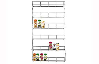 LIVIVO ® Chrome 6 Tier Spice Herb Jar Rack Holder For Home Kitchen Door Cupboard Storage or Wall Mountable by LIVIVO ®