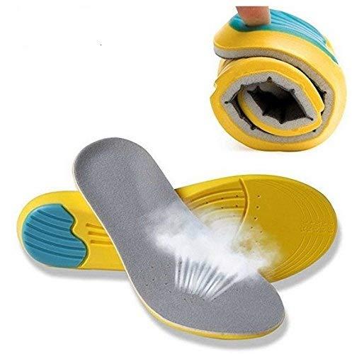 AOLVO Schuheinlagen zur Polsterung aus Memory-Foam, orthopädische Einlegesohlen zur Schmerzlinderung, für alle Größen zuschneidbar, Unisex, atmungsaktive Sport-Einlegesohlen 34-39(US 4-8)