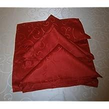 45 x 45 cm paquete de 4 servilletas Damasco rojos (DA7)