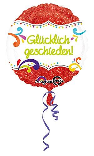 Folienballon * GLÜCKLICH GESCHIEDEN! * als Geschenk oder Deko nach einer Scheidung // Folien Ballon Party Helium Ballongas Motto (Glücklichen Servietten)