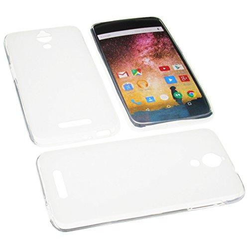 foto-kontor Tasche für Archos 50 Power Gummi TPU Schutz Handytasche transparent weiß