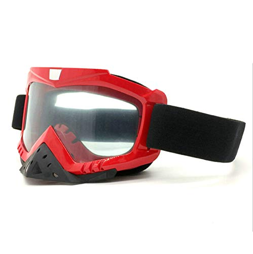 Anyeda Sportbrillen für Fahrräder Herren PC Schutzbrille mit Sehstärke Gleitsicht Rot Transparent