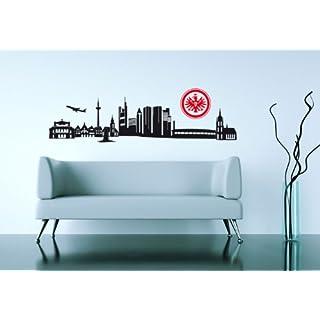 Wandtattoo – Eintracht Frankfurt Skyline mit Logo, 120 cm Breite