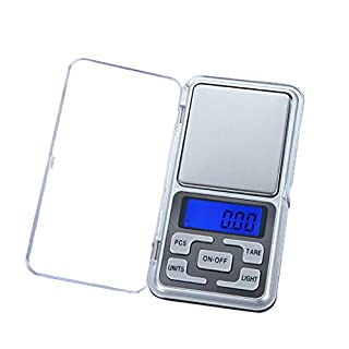 Spritumn Pocket Scale-Portable 200g Precision Digital Scale with Back-lit LCD Display Elite Digital Multifunctional Pro Scales 0.01 Weight Electronic Scale for Gold Jewelry Food