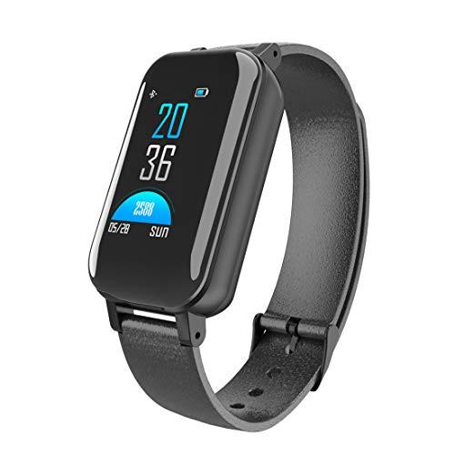 LEMFO Fitness Tracker wasserdicht Aktivität Tracker Uhr Schrittzähler Uhr Schlaf Monitor Bluetooth Sport Schrittzähler kompatibel mit iOS Android-Handy, geeignet für Frauen und Männer,Black