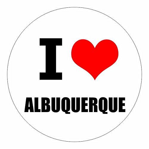 Albuquerque New Mexico (I love Albuquerque New Mexico in 2 Größen erhältlich Aufkleber mehrfarbig Sticker Decal)