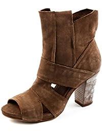 Felmini FM1-004-A928 - Sandalias de Vestir de Piel Lisa para Mujer Marrón marrón A928