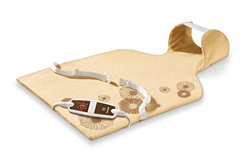 Beurer HK-58-LED - Almohadilla electrónica cervical/dorsal, funda lavable, 62 x 42 cm, color crema