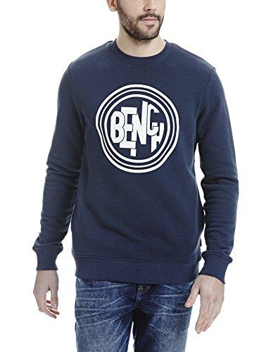 Bench Herren Rest Sweatshirt Dark Navy Blue Marl