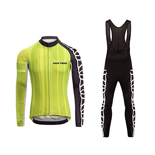 Uglyfrog #05 2018 Neuer Radsport Anzüge Herren Winter Warm halten with Fleece Langarm-Radsport-Trikot+Lange Lätzchen Dicht with Gel Pad Breathable Classic Bicycle Set