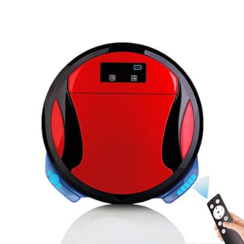 [Nueva Versión 2018] Robot de limpieza al vacío Potente aspiración, esterilización UV Limpiador de luz por pelo y barredora de piso con filtro HEPA de alta eficiencia para alfombras de baja dureza-Luz
