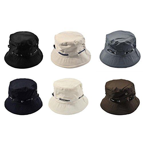 Clearance Sale Summer Unisex Fishing Hat, Men Women Wide Brim Packable Cotton Bucket Hat Double Side Fishing Boonie Bush Cap Visor Sun Outdoor Climbing Mesh Sunshade Fisherman Cap