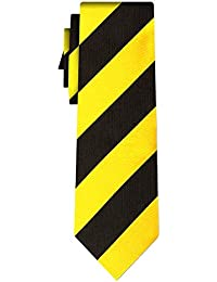 cravate rayée stripe L yellow black (P)