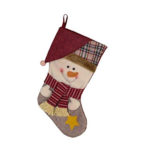 OULII Nikolausstiefel Weihnachtsstiefel klassische Weihnachtsmann Beutel hängende Weihnachtsdekoration Typ 1