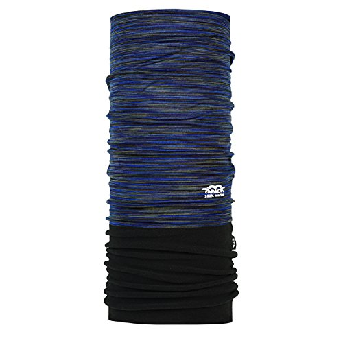 P.A.C. Merino Fleece Multi Deep Ocean Multifunktionstuch - Merinowoll Schlauchtuch, Halstuch, Schal, Kopftuch, Unisex, 8 Anwendungsmöglichkeiten