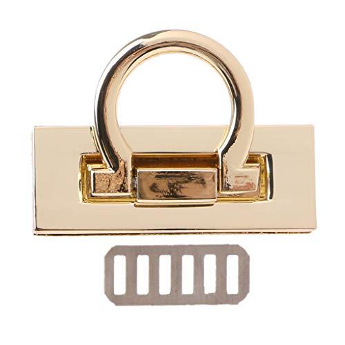 JENOR Metall-Verschluss Drehverschluss für DIY Handwerk Schultertasche Handtasche Hardware Gold