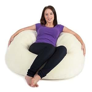 pouf poire icon xl chaise pouf poire lambriss en fausse fourrure extra large grand pouf poire. Black Bedroom Furniture Sets. Home Design Ideas