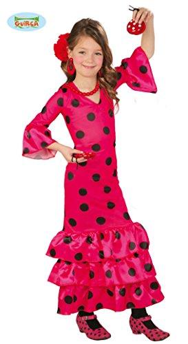Spanische Tänzerin Flamenco Mädchen Kostüm - spanische Flamenco Tänzerin - Kostüm für Mädchen Gr. 110 - 146, Größe:140/146
