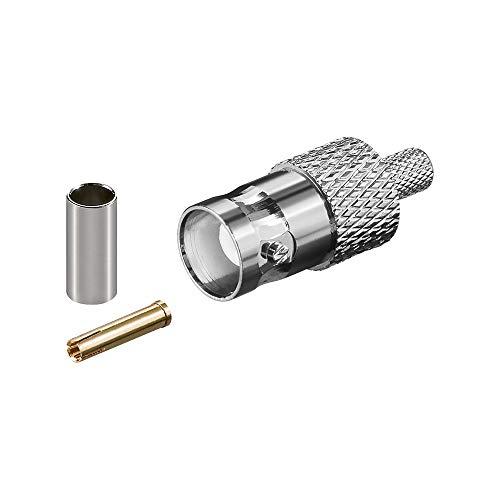 Goobay 11357 BNC-Crimpkupplung - mit Gold-Pin für RG 58/U Kabel