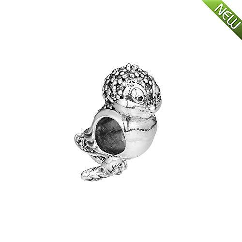 Schneewittchen s Vogel Bead 925 Silber DIY passt für Original Pandora Armbänder Charm Modeschmuck ()