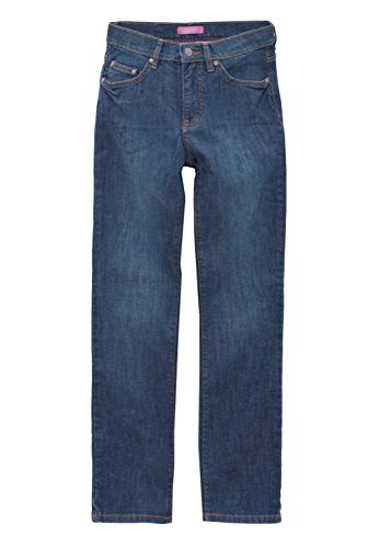Oklahoma Regular Fit 5-Pocket-Stretch-Jeans Damen A603MS Dunkelblau