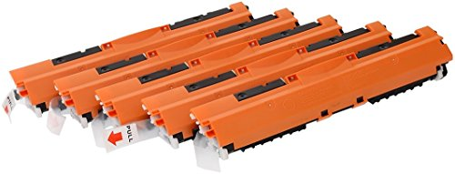 TONER EXPERTE 126A CE310A CE311A CE312A CE313A 5 Cartuchos de Tóner compatibles para HP Laserjet Pro CP1025 CP1025nw CP1020 100 MFP M175 M175a M175nw | HP TopShot Laserjet Pro M275 M275a M275nw