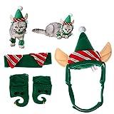 XDODD Cappello di Natale Animale Domestico Cane Animale Domestico Gatto Piccolo Verde Cappello Natale Cappello di Natale Cappello di Piccoli Animali Decorazione Giocattoli Cappelli