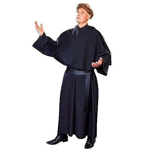 Luther Kostüm Einhgr. Augustiner Mönch schwarze Mönchskutte Reformator (Reformation Kostüme)