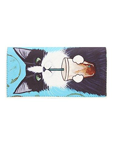 Portefeuille Ashley M Caffeine Addicted Kitties 19,5 x 10 cm Femme
