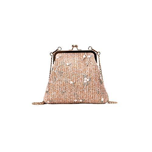 Mitlfuny handbemalte Ledertasche, Schultertasche, Geschenk, Handgefertigte Tasche,Art- und Weisefrauen-Retro Blatt-Webart-Spitze-Stickerei-Crossbody Beutel Kuriertasche