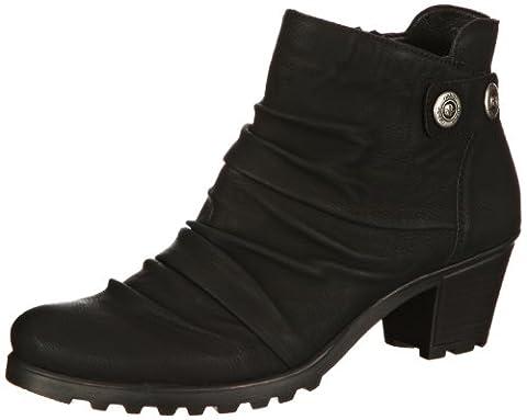 Rieker Y8063, Damen Kurzschaft Stiefel, Schwarz (schwarz/01), 42 EU (8 Damen UK)