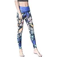 Pantalones de yoga de bolsillo de cintura alta. Ej Pantalones de yoga Mariposa de impresión de secado rápido Compresión de la aptitud Ejercicio de la aptitud apretado Nueve puntos ( tamaño : METRO )