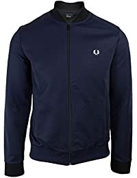 Fred Perry Hommes Sweat-shirt col zip-through Bombardier Granit Bleu