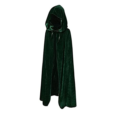ESHOO Child Kids Cloak Halloween Velvet Hooded Cape Fancy Costume Robe