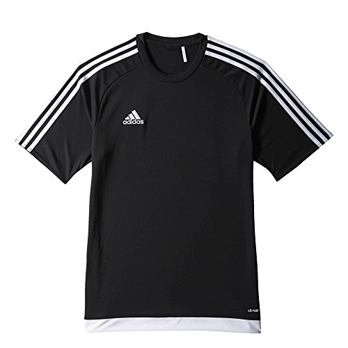 adidas Kinder Trikot Estro 15, Black/White, 164, S16147 (Shirt Fußball-jungen)