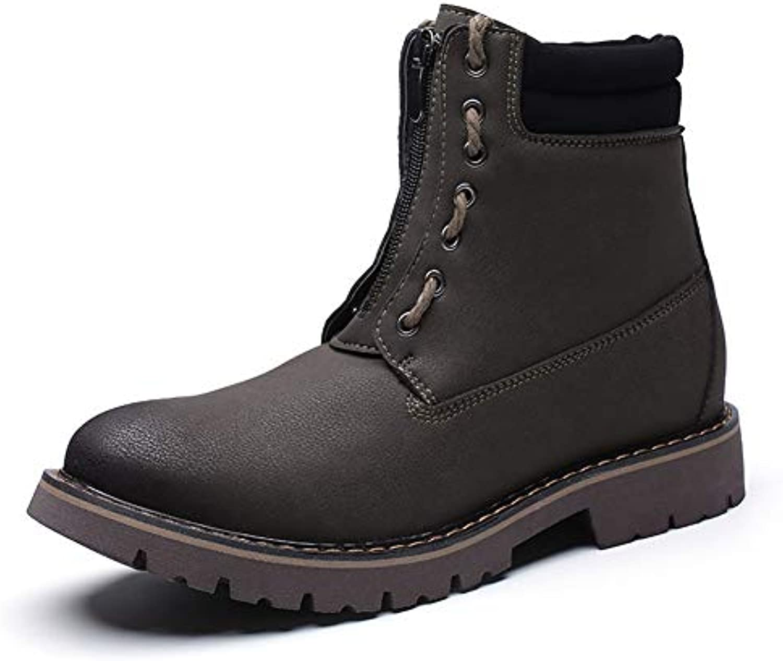 Gfphfm-scarpe Stivali Comfort Comfort Comfort da Uomo in Pelle Stivali Casual Sportivi Invernali Antiscivolo Stivali Inglesi Vintage... | Più economico  083fa2